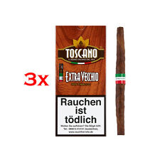 3 x Toscano 5 Il Cigaro Supplementare Vecchio Italiano Shortfiller 100% Tabacco