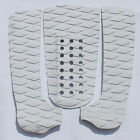 3 Piece White Diamond Surfboard Traction Pad Tail pad Deck grip with 3M Adhesive