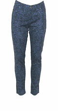NWT Style & Co. Size 10 Petite Skinny Laced Baroque Print Jeans BLUE
