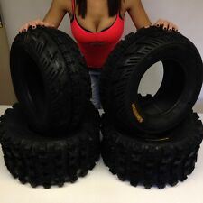 ( 2 ) 22X7-10 ( 2 ) 22X10-9 AMBUSH SPORT ATV TIRES FULL COMPLETE SET 4