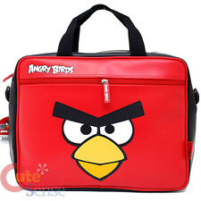 Angry Birds Fuax Leather Messenger Bag Shoulder Briefcase Big Face RovioLicensed