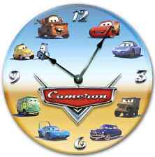 CARS Wall clock, Nursery art, Kids Room, Personalized, Custom Room Decor_FT