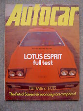 Autocar (15 Jan 1977) Lotus Esprit road test, Mercury Monarch, Mazda 323,VW Polo
