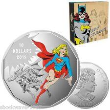 2015 Silver $10 SUPERGIRL Coin DC Comics Originals UNITY