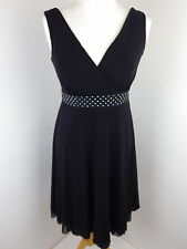 NEXT BNWT black dress Size 8 Petite fit and flare studded belt party event races