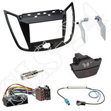 FORD Kuga C-MAX DXA Doppel-DIN Blende schwarz matt+ISO Adapter+Warnblinkschalter