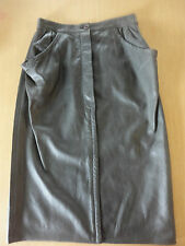 UNGARO SOLO DONNA PARIS Made In Italy Gray Sheep Skin Skirt Size 46/12 ~W2473
