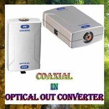 Digital Coaxial to Optical SPDIF Toslink Audio Converter With DC Power Adapter