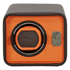Wolf Designs Windsor Brown/Orange Single Watch Winder 452406