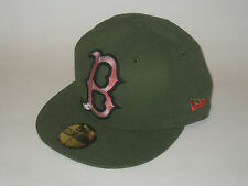 NEW ERA BOSTON RED SOX RIFLE GREEN FITTED HAT CAP 7 1/8 59FIFTY BASEBALL 59/50