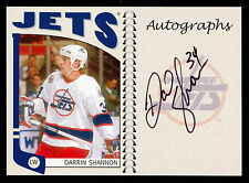 2004 05 ITG FANCHISES SERIES DARRIN SHANNON AUTOGRAPH AUTO SIGNED WINIPEG JETS