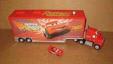 "DISNEY CARS MACK STORAGE CARRY CASE 18"" LIGHTS/SOUNDS W/ LIGHTNING MCQUEEN"