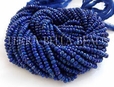 "Full 13"" strand blue LAPIS LAZULI faceted gem stone rondelle beads 3mm"