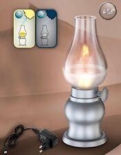 Tisch Lampe LED Deko Leuchte Tischlampe silbern Büro Wohnzimmer Beleuchtung 0,5W