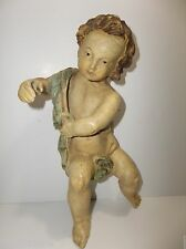 Antique Italian CARTAPESTA Paper Mache ANGEL Santos 11""