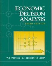 Economic Decision Analysis by D. Verma, G. J. Thuesen and W. J. Fabrycky...
