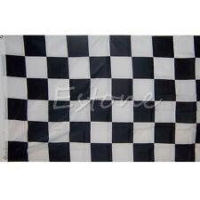 Large 90cm x 150cm Black White Nascar Flag Checkered Racing Banner