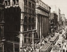 1925 CANADA ~ St. James Street Montreal Quebec People Architecture Cityscape