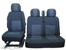 PREMIUM GREY-BLACK FABRIC SEAT COVERS 2+1 FOR VW TRANSPORTER T5 T4 MULTIVAN