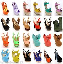 NIB 75 Womens Wholesale Lot Mixed High Heel Platform Evening Pump Sandal Shoes