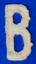 "LETTER ""B"" - 2 1/2"" NATURAL COLOR DISTRESSED LOOK TWILL IRON ON LETTER"