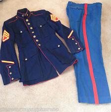 """~GENUINE NAMED USMC MARINE CORPS DRESS BLUES JACKET 35"""" CHEST PANTS 30"""" X31"""" EGA"""