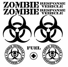 Zombie Response Team Decal Set Vinyl Sticker Apocalypse Jeep Truck Car Window