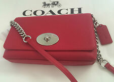 BEAUTY! NWT Coach CROSSTOWN Crossbody in Pebbled Leather Handbag-True Red #53083