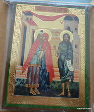 CONCEPTION OF ST JOHN THE BAPTIST  RUSSIAN WOODEN  ICON