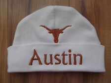 PERSONALIZED MONOGRAM CUSTOM Baby Beanie Hat Cap UT University of Texas Longhorn