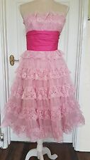 Brand NEW Betsey Johnson pink prom dress vintage style, size small