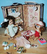 Vintage Vogue 2 Ginny dolls clothes outfits school bag accessories Trunk LOOK!