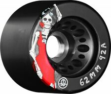 Black Rollerbones Day Of The Dead Quad Skate Wheels 62mm 92A