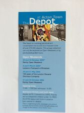 London Transport Museum - 'The Depot at Acton Town' 2006 Tour Leaflet