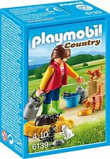 BNIB Playmobil 6139 Woman with Cat Family