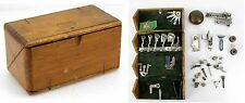 Vintage Singer Wood Sewing Puzzle Box & Accessories & Pfaff Oil Dropper