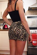 ASOS Petite Leopard Print Mini Skirt, Size 6