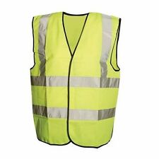 "HI VIS WAISTCOAT CLASS 2 LARGE 108-116cm 42-46"" POLYESTER REFLECTIVE P480"
