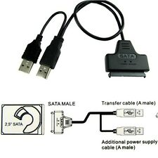 "External PC SSD Hard Disk Drive Adapter USB To SATA 2.5"" Converter Lead Cable US"