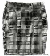 LANE BRYANT Ponte Houndstooth Pencil Skirt 14/16 Versatile Career Black/White