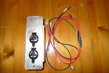 Land Rover Series 2 2a Aux Power Outlets - Two 12 v Sockets 10A 120 watts Alloy