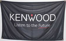 NEW KENWOOD LISTEN TO THE FUTURE 5' X 3' RARE LARGE BANNER FLAG AUDIO LOGO NEW