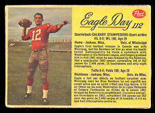 1963 POST CFL FOOTBALL #112 EAGLE DAY EX CALGARY STAMPEDERS UNIV OF MISSISSIPPI