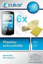 6x Acer Liquid E1 Pellicola Prottetiva Transparente Proteggi Schermo