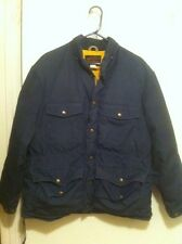 Eddie Bauer Baby Blue Full Zip Coat Goose Down Filled Mens L