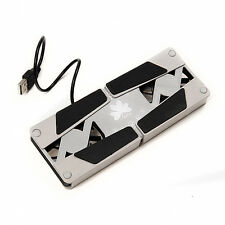 1x USB Foldable Cooling Pads 2 Fan Cooler Pad For Laptop Notebook New