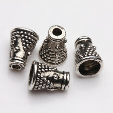 25Pcs Tibet Silver Plated Arch Spacer Bead Caps Jewelry Findings DIY 8x6x4mm