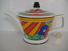 VINTAGE SADLER ART DECO CLARICE CLIFF DESIGN TEAPOT MADE IN ENGLAND PAST TIMES