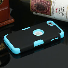 For Apple iPod Touch 6th Gen Hybrid Rubber Protective Slim Hard Case Cover BLACK