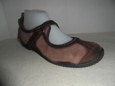 Merrell Mary Janes Plum & Brown Suede Leather Mules size 8.5